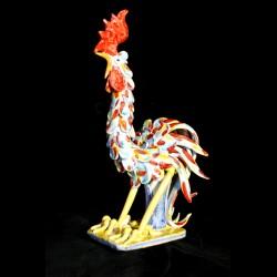 Gallo in ceramica di Caltagirone.