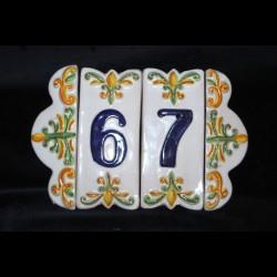 Numeri civici e cornice