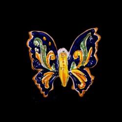 Farfalla 3 misura decoro Ornato blu.