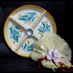Antipastiera in ceramica.