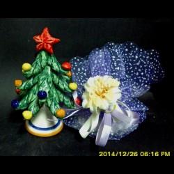 Particolare albero di Natale in ceramica di Caltagirone.