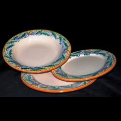 Piatti Ceramica Di Caltagirone.Servizio Di Piatti In Ceramica Di Caltagirone Prezzo Per Singolo P