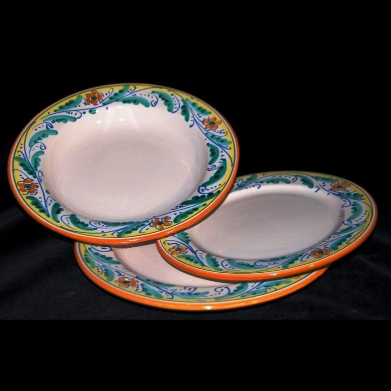 Piatti In Ceramica Prezzi.Servizio Di Piatti In Ceramica Di Caltagirone