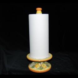Porta rotolone in ceramica di Caltagirone.