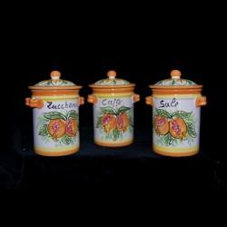 Barattolo in ceramica di Caltagirone.