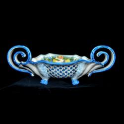 Centro Tavola decoro in ceramica di Caltagirone.