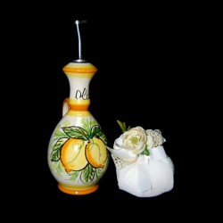 Bottiglia olio in ceramica.