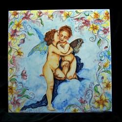 Pannello in ceramica di Caltagirone.