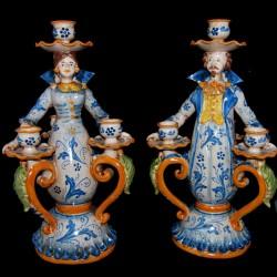 Lumiere in ceramica di Caltagirone.