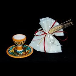 Porta uovo in ceramica di Caltagirone.
