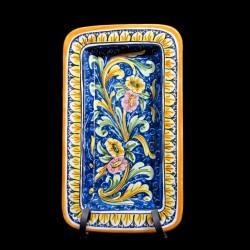 Piatto in ceramica di Caltagirone decoro reale