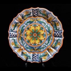Bellissimo piatto in ceramica di Caltagirone.