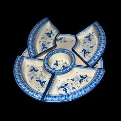 Antipastiera in ceramica di Caltagirone.