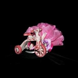 Triciclo in ceramica di Caltagirone.
