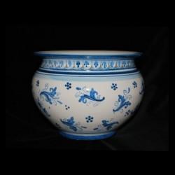 Porta piante in ceramica di Caltagirone.