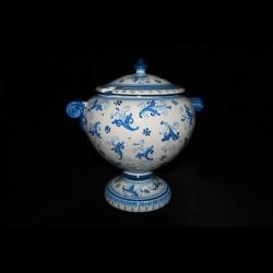 Zuppiera in ceramica di Calatgirone.