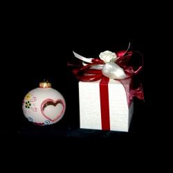 Bomboniera palla di Natale in ceramica di Caltagirone.