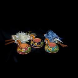 Bomboniera tealight in ceramica di caltagirone