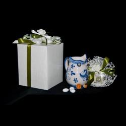 Brocca gufo in ceramica di Caltagirone