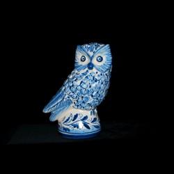 Gufo in ceramica di Caltagirone.