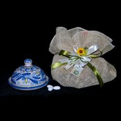 Bomboniera porta burro in ceramica di Caltagirone.