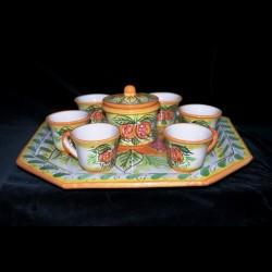 Servizio in ceramica di Caltagirone,