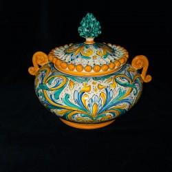 Biscottiera in ceramica di...