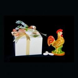 Gallo in ceramica di...