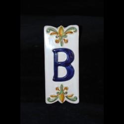 Lettera B numero civico