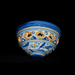 Plafoniera decoro 600 blu Traforata