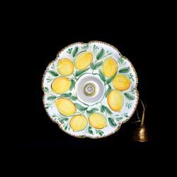 Lampadario decoro limoni