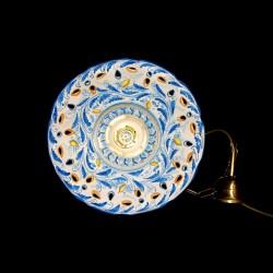 Lampadario traforato decoro 600 blu