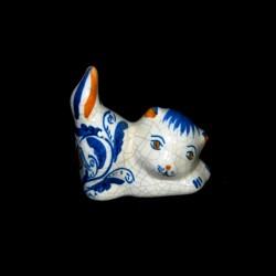 Gatto coda in sù decoro 600 blu
