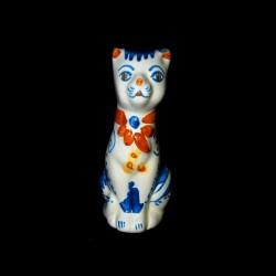 Gatto stilizzato decoro 600 blu