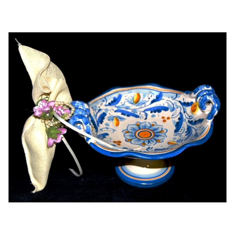 Bomboniera Porta caramelle in ceramica di Caltagirone.