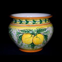 Porta piante decoro limoni