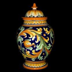 Vaso decoro ornato blu