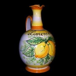 Bottiglia limoncello decoro limoni.